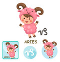 Aries vector collection. zodiac signs Royalty Free Stock Photo