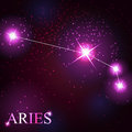 Aries zodiac sign of the beautiful bright stars Stock Images
