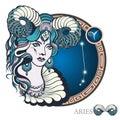 Aries. Zodiac sign Royalty Free Stock Photo