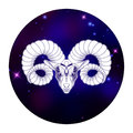 Aries zodiac sign, horoscope symbol, vector illustration Royalty Free Stock Photo