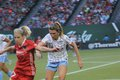 Arin gilliliand defender for the chicago red stars at providence park Royalty Free Stock Photo