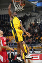 Aris BSA vs Cedevita Zagreb Royalty Free Stock Photography