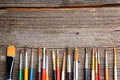 Aristic paint brushes Royalty Free Stock Photo