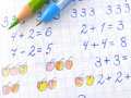 Arithmetic lesson Royalty Free Stock Photo