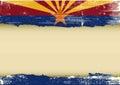 Arizona horizontal scratched flag Royalty Free Stock Photo