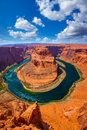 Arizona Horseshoe Bend meander of Colorado River Royalty Free Stock Photo