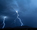 Arizona Monsoon Lightning 2012H Royalty Free Stock Photos