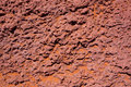 Arizona red stone detail with orange desert sand near colorado river Stock Photos