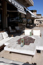 Arizona Resort Hotel Outdoor Patio Royalty Free Stock Photo