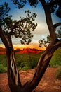 Arizona sedona during sunset hours Stock Images