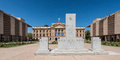Arizona state capitol monument to s war heroes in front of the original building in phoenix Royalty Free Stock Images