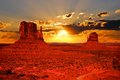 Arizona sunrise beautiful over iconic monument valley usa Stock Image