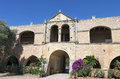 Arkadiou monastery at Crete island Stock Images