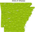 Arkansas map Royalty Free Stock Photo