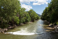 Arkansas river in colorado view down near salida Stock Photo