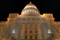 Arkansas State Capitol exterior at Christmas