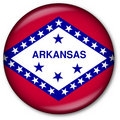 Arkansas State Flag Button Royalty Free Stock Photography