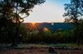 Arkansas sunset over eureka springs Royalty Free Stock Photo