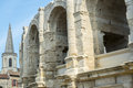 Arles bouches du rhone provence alpes cote d azur france les arenes the roman amphitheatre Stock Photo