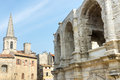 Arles bouches du rhone provence alpes cote d azur france les arenes the roman amphitheatre Stock Photography