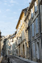 Arles bouches du rhone provence alpes cote d azur france old street and the roman arena Royalty Free Stock Photos