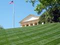 Arlington Cemetery Flag & Arlington House 2010 Royalty Free Stock Photo