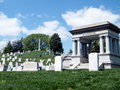 Arlington cemetery memorials and tombstones in national virginia usa Royalty Free Stock Images
