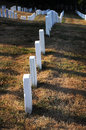Arlington cemetery the military graves in the Royalty Free Stock Photos