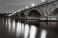 Arlington Memorial Bridge At Night Royalty Free Stock Photo