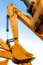 Arm of backhoe at a workplace beijing Royalty Free Stock Image