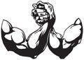 Arm Wrestling Royalty Free Stock Photo
