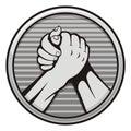 Arm wrestling icon Royalty Free Stock Photo