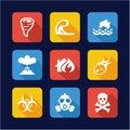 Armageddon Icons Flat Design