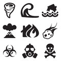 Armageddon icons this image is a illustration and can be scaled to any size without loss of resolution Royalty Free Stock Image