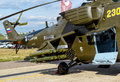 The armament of the russian military helicopter moscow region august mi at international aviation and space salon maks in Stock Images