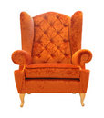 Armchair front Royalty Free Stock Images