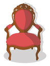 Armchair illustraion of a vintage isolated on a white background Stock Photography