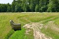 Armchair in a meadow Royalty Free Stock Photos