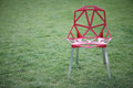 Armchair with a metal frame Royalty Free Stock Photo