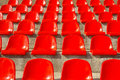 Armchair numbers of armchairs for fans in sports stadium Royalty Free Stock Photos