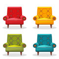 Armchair soft colorful homemade, set 4