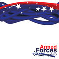 Armed forces day an abstract illustration of Royalty Free Stock Photo