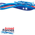 Armed forces day an abstract illustration of Royalty Free Stock Image