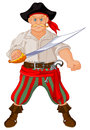 Armed pirate illustration of with sword Stock Photography