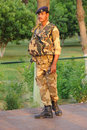 Armed security officer taj mahal india april th an in body armour protects visitors to the against possible terror Royalty Free Stock Images