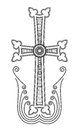 Armenian apostolic church cross clip art traditional vector illustration Royalty Free Stock Images