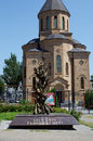 Armenian Apostolic church Surb Arutyun. Monument to victims of Armenian genocide. Rostov-on-Don, Russia. August 2, Royalty Free Stock Photo