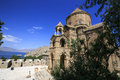 Armenian cathedral of the holy cros cross on ahtamar island lake van in turkey Stock Photo