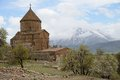 Armenian church of the holy cross cathedral in akdamar island van lake turkey Stock Photo