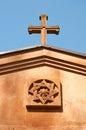 Armenian cross on entrance arch Royalty Free Stock Image